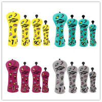 4Pcs/Set Golf Club Headcover 460cc Driver Wood Head Cover For Taylormade Ping US