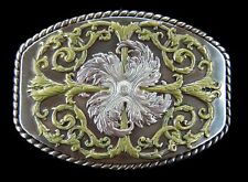 Flower Western Cowboys Cowgirls Flower Floral Belt Buckle Boucle de Ceinture