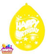 Paquet de 10 Couleurs Assorties Ballons Joyeux Anniversaire Célébration