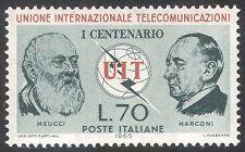 Italy 1965 ITU-UIT/Radio/Telecomms/Communications/People/Marconi 1v (n41690)