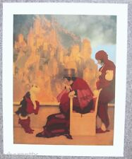 Maxfield Parrish Print HIGH QUALITY Poster PUSS IN BOOTS 20x16 Large New Repro