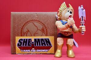 Bad Taste Bears - She Man - Funny Rare Collectible BTB Figurines MOTU not He-Man