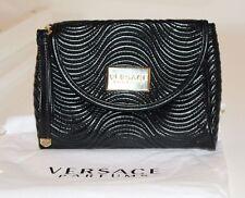 Versace Parfums Negro Embrague/Bolso De La Correa De Muñeca Con Bolsa De Polvo Nuevo sin Usar Navidad