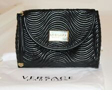 Versace Parfums Black Clutch/ Wrist Strap Bag with Dust Bag New Unused christmas