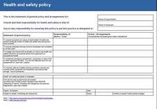 Extensive Health and Safety Policy with Risk Assessments & over 170 pages on CD