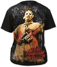THE TEXAS CHAINSAW MASSACRE- Chainsaw Big Print T SHIRT S-M-L-XL-2XL Brand New