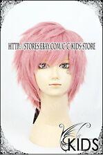Puella Magi Madoka Kaname Madoka cosplay wig boy pink colour