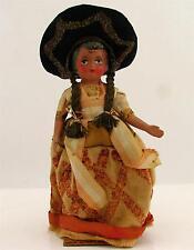 Vintage Harte Kunststoff Mädchen internationalen regionalen Reisen Puppe südamerikanischen