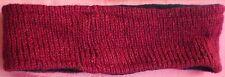 Hand Crocheted 100% Wool w/ Fleece Lining Headband Adult Size MAROON