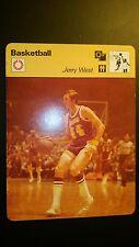 1977 Sportscaster Card Basketball JERRY WEST  VG/EX