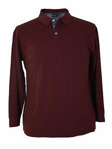 Langarm Pique Polo-Shirt von Allsize, aubergine