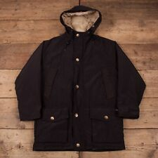 "Mens Vintage Woolrich Black Down Arctic Parka Jacket M 40"" R15822"