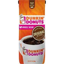 DUNKIN' DONUTS WHOLE BEAN COFFEE Original Blend Medium Roast 12 Oz Hot or Iced