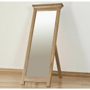 French Solid Oak Bedroom Furniture Cheval Mirror