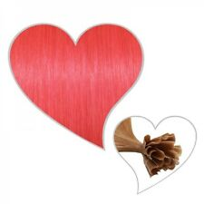 25 Extensions pink 45cm, Premium 1 Gramm Strähnen, pinke Haarverlängerung