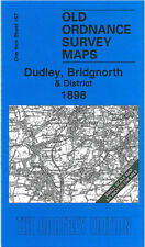 OLD ORDNANCE SURVEY MAP DUDLEY BILSTON BRIDGNORTH SEDGLEY TIPTON & DISTRICT 1898