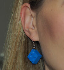 Earrings made with LEGO bricks - blue