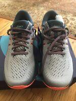 New Asics Gel-Kayano 27 Men Running Shoes Size 9- Sheet Rock/Magnetic Blue