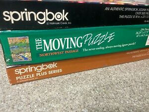 Lot of 3- Springbok:Sew What, Most Murderous Moving Northwest Passage Puzzle 500