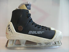 Bauer molded goalie skates senior 7.5 sr ICM holder vtg rare hockey plastic ice