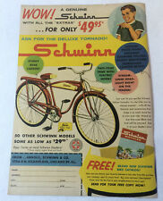 1960 Schwinn bicycles ad page ~ DELUXE TORNADO ~ Wow!