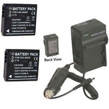 TWO 2 Batteries + Charger for Panasonic DMC-FX10S DMC-FX12 DMC-FX12K DMC-FX12S
