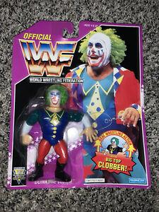 Hasbro WWF Doink The Clown MOC Purple Series 9