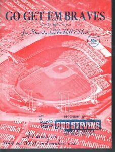 Go Get Em Braves 1958  Sheet Music
