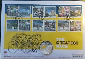 Rare 2014 Tour De France Silver Proof Coin Cover Limited Edition of Just 250!!!.
