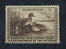 CKStamps: US Federal Duck Stamps Collection Scott#RW6 $1 Unused NG Tiny Thin
