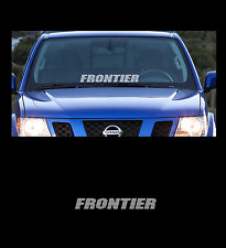 "Frontier Front Windshield 23"" Banner Decal Sticker Fits All Nissan Frontier"
