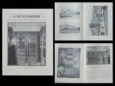 CONSTRUCTION MODERNE n°51 1930- LIEGE, PARIS 35 RUE DE SAINT QUENTIN, BAR FABRE