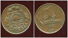 LETTONIE  1 santims  1924