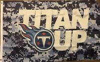 Titan Up Flag 3x5 Tennessee Titans Blue Camo Banner NFL Man Cave Football