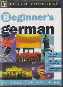 Beginners German Teach Yourself 2 Cassette + Coursebook Language Learn Speak
