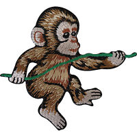 Monkey Embroidered Iron / Sew On Patch Jacket T Shirt Embroidery Applique Badge