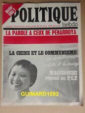 Politique Hebdo n°17 24 février 1972 La Chine et le communisme. Dossier Chili