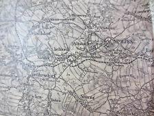 Seltene Landkarte 1909 / 1931 Bischofswerda Elstra Burkau Stolpen Radeberg