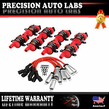 8 Pack Ignition Coil & Spark Plug Wire for Chevrolet Silverado Avalanche GMC V8