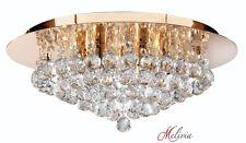 Brillantes Cristal Lámpara de techo Ø45cm ORO 6x33w Lámpara colgante NUEVO