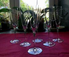 6 flûtes a champagne en cristal  de baccarat modèle dom pérignon signé 2