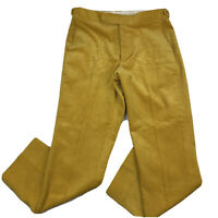 VTG JC Cording & Co Yellow Gold Mustard Corduroy Pants Mens Sz 36 (Fits 34-35)