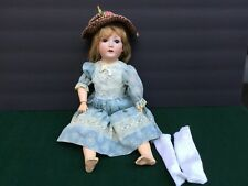 "Antique 18"" German Doll Sleep Eyes Bisque Head Composite Body"