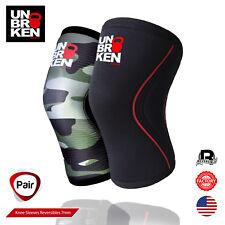 Crossfit knee sleeve kneecap 7mm support men women comp. Rehband size Pair