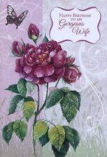 Happy Birthday To My Gorgeous Wife - Birthday Greeting Card - 07148