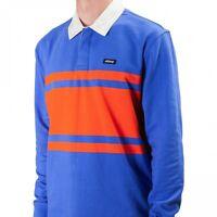 Stussy Stanley Long Sleeve Tee Shirt Size M L XL 1140145 Blue