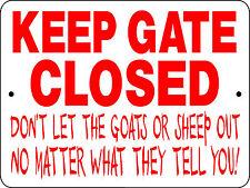 Goat & Sheep Sign, Aluminum Sign,Animals,Farm,chicken s,horses,llama,H3125G& S