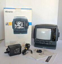 Memorex Mt0550 Portable 5.5� B / W Tv Radio Gaming Tailgating Complete in Box