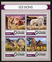 GUINEA 2016 THE LIONS  SHEET MINT NH