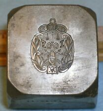 1918 IOOF ODD FELLOWS WATCH FOB Stamping Die SKULL & HEART IN HAND * MC Lilley